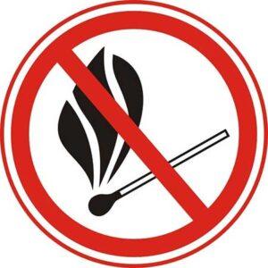 Табличка (знак) не пользоваться огнём