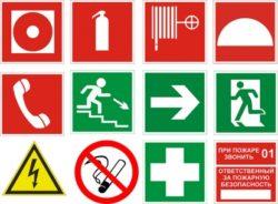 таблички по пожарной безопсности
