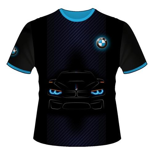 "Футболка ""BMW синий карбон"""