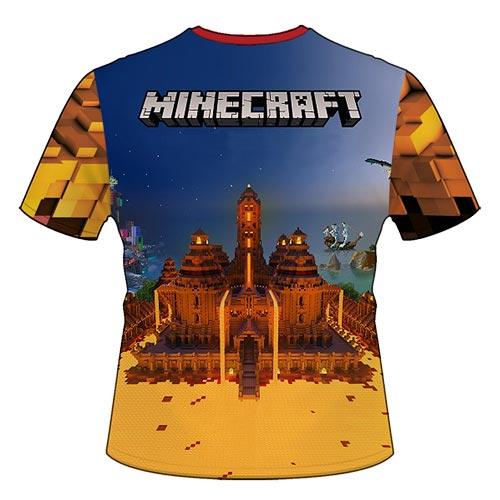 "Футболка ""Вогняний Minecraft"""