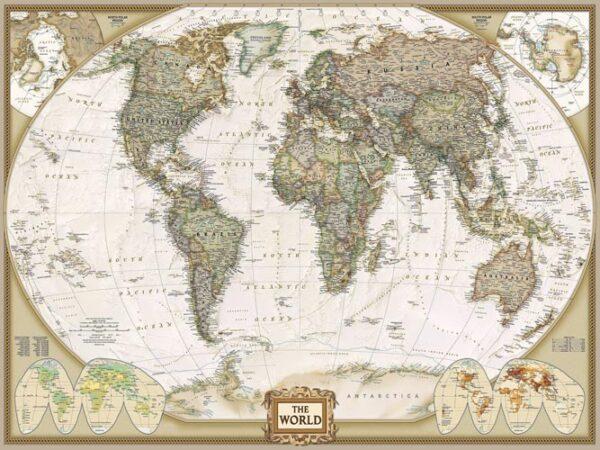 """Картина на холсте """"Старая карта"""""""