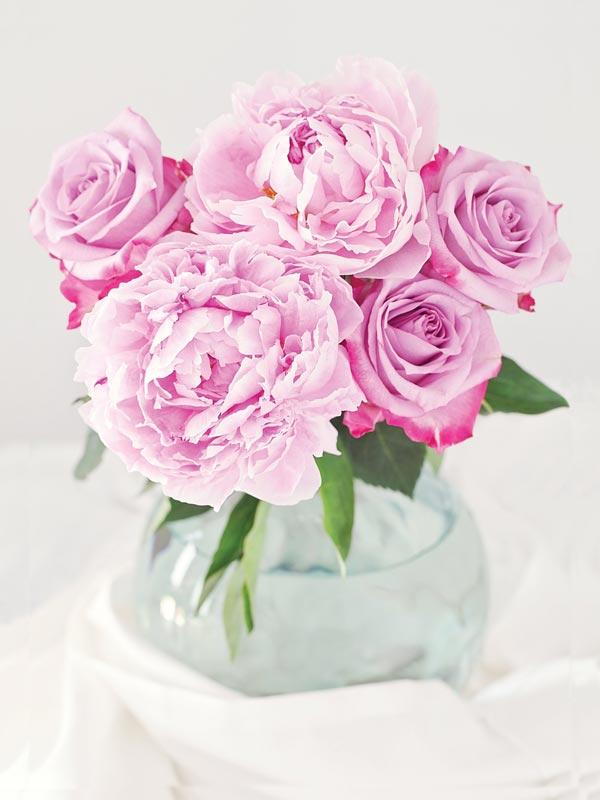 """Картина на холсте """"Розы и пионы"""""""