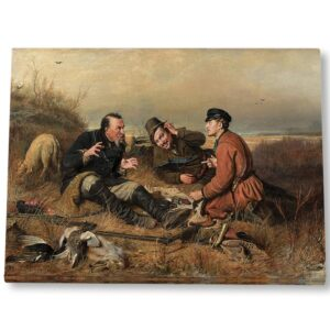 """Картина на холсте """"Охотники на привале"""""""