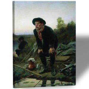 "Картина на холсте ""Рыболов"""