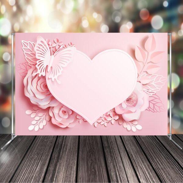 "Фото-зона ""Весільна рожеве серце"""