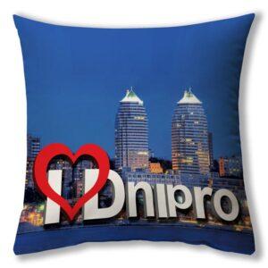 """Подушка """"Я Люблю Дніпро"""""""