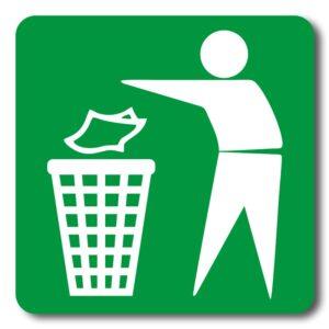 """Наліпка """"Місце для сміття"""" (tab-0037)"""